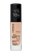 Catrice All Matt Plus Shine Control Make Up -  Podkład matujący 015 Vanilla Beige, 30 ml