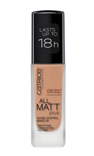 Catrice All Matt Plus Shine Control Make Up -  Podkład matujący 030 Warm Beige, 30 ml