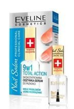 Eveline Nail Salon Professional Clinical Care 9w1 TOTAL ACTION Skoncentrowana odżywka-serum do paznokci