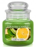 Kringle Candle Citrus and Sage Mały słoik świeca 104g