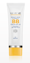 Lumene Bright Now Vitamin C BB Cream SPF 20 - Krem BB z witaminą C i SPF 20 02 Medium, 50 ml
