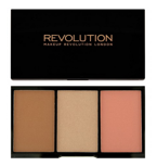Makeup Revolution Iconic Pro Blush, Bronze & Brighten Palette - Paleta do konturowania twarzy Golden Hot
