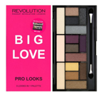 Makeup Revolution Pro Looks Palette - Paleta 15 cieni do powiek Big Love