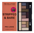 Makeup Revolution Pro Looks Palette - Paleta 15 cieni do powiek Stripped & Bare