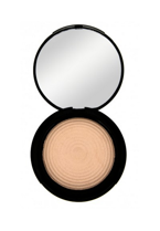 Makeup Revolution Radiant Lights Baked Highlighter - Wypiekany rozświetlacz do twarzy Exhale, 12 g