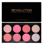 Makeup Revolution Ultra Blush Palette - Paleta róży do policzków All About Pink, 13 g