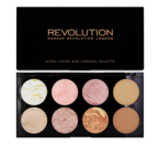 Makeup Revolution Ultra Blush Palette - Paleta róży do policzków Golden Sugar, 13 g