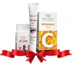 Noble Health Zestaw Witamina C + Collagen + Krem pod oczy