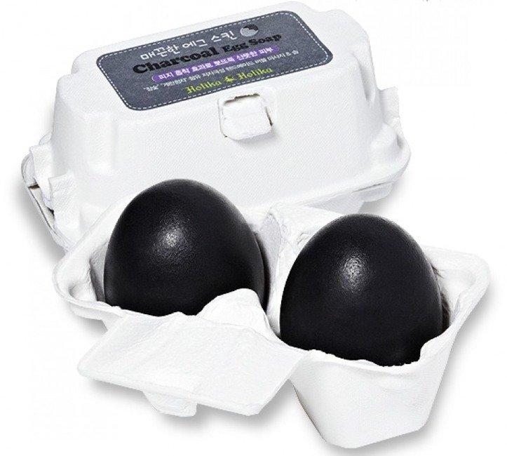 Znalezione obrazy dla zapytania Holika Holika Charcoal Egg Soap - Mydełko do twarzy