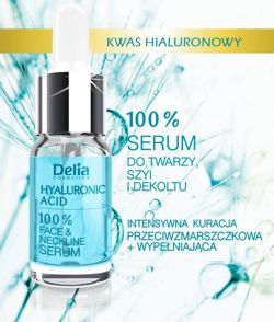 DELIA +3D Hyaluron Fusion Ultranawilżające serum do twarzy, 10 ml