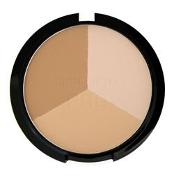Freedom Makeup Bronzed PRO Warm Lights  -  Potrójny puder do modelowania twarzy