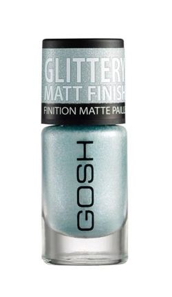 GOSH Glittery Matt Finish - Lakier do paznokci 08 Frosted Soft Blue 8ml