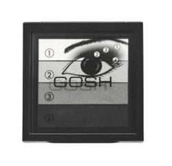 GOSH, Smokey Eyes Palette, Paleta cieni do powiek Smokey Eye, 01 Black