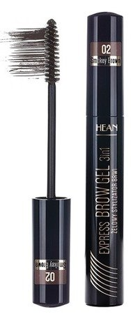 HEAN Express Brow Gel 3w1 - Żelowy stylizator do brwi 02 Smokey Brown 13ml