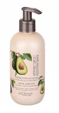 Le Cafe De Beaute Regenerujący krem do rąk z olejem avocado z pompką 250ml