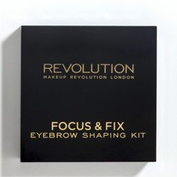 Makeup Revolution Focus & Fix Brow Kit - Zestaw do stylizacji brwi Medium Dark