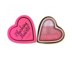 Makeup Revolution I Heart Makeup Blushing Hearts Blusher - Wypiekany róż do policzków Bursting With Love