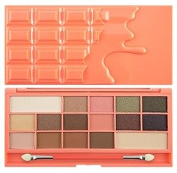 Makeup Revolution  I heart Makeup  I Heart Chocolate and Peaches CZEKOLADA Paleta cieni do powiek