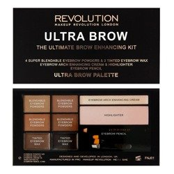 Makeup Revolution Ultra Brow - Paletka do stylizacji brwi Medium To Dark