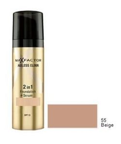Max Factor, Ageless Elixir 2in1 Foundation+Serum, Podkład 2 w 1 fluid+serum, 55 Beige
