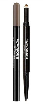 Maybelline Brow Satin Duo - Dwustronna kredka do brwi Dark Brown
