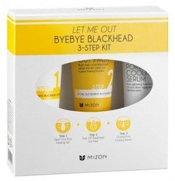 Mizon Let Me Out Byebye Blackhead 3-Step Kit - Zestaw na zatkane pory w 3 krokach 35g+35ml+30ml