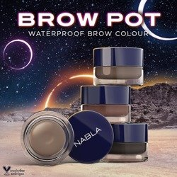 NABLA Brow Pot Waterproof - Wodoodporna pomada do brwi Neptune 6ml