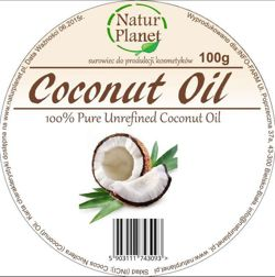 Natur Planet  100% Pure Unrefined Coconut Oil 100 ml