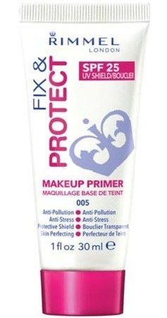 Rimmel Fix & Protect Makeup Primer SPF25 - Baza pod makijaż 005, 30ml