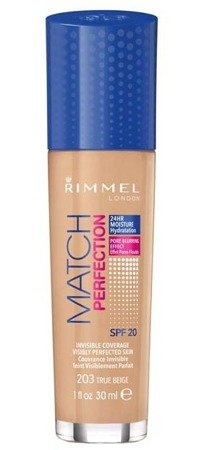 Rimmel Match Perfection -  Podkład do twarzy 203 True Beige 30ml
