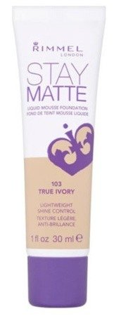 Rimmel Stay Matte Liquid Mousse Foundation - Podkład matujący do twarzy 103 True Ivory 30ml