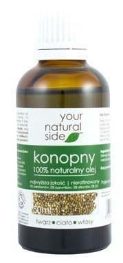 Your Natural Side Olej konopny100% naturalny 50ml