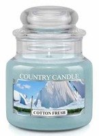 Country Candle Cotton Fresh Mały słoik świeca 104g
