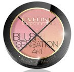 Eveline Blush Sensation Paleta róży do modelowania 4w1