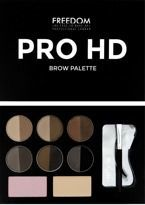 Freedom Makeup Pro HD Brow Palette - Paleta do Brwi Medium Dark