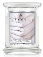Kringle Candle Medium 2 Wick Classic Warm Cotton - Słoik świeca średnia z dwoma knotami 411g