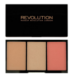 Makeup Revolution Iconic Pro Blush, Bronze & Brighten Palette - Paleta do konturowania twarzy Rave