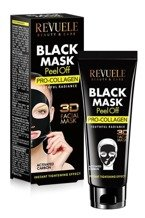 Revuele Black Mask 3D Collagen Maska peel-off do twarzy 80ml