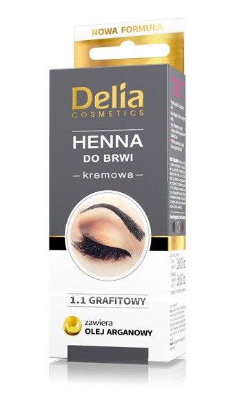 Delia Henna W Kremie Do Brwi Grafitowa