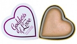 Makeup Revolution I Heart Makeup Blushing Hearts Highlighter -  Potrójnie wypiekany rozświetlacz Goddess Of Faith