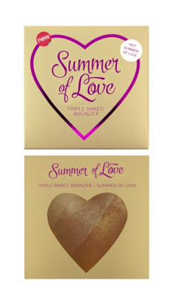 Makeup Revolution I Heart Makeup Blushing Hearts Triple Baked Bronzer - Potrójnie wypiekany bronzer Hot Summer Of Love
