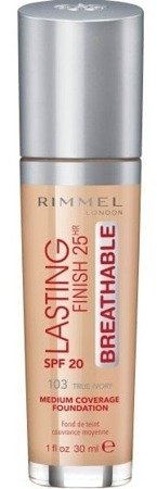 Rimmel Lasting Finish25h BREATHABLE Podkład do twarzy 103 True Ivory 30ml